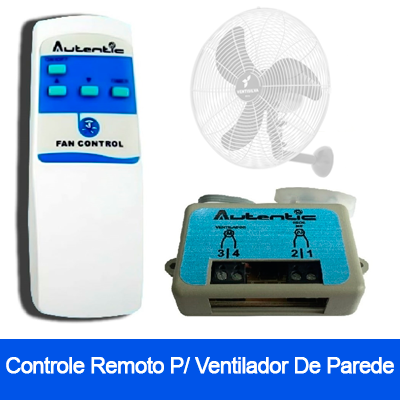Controle Remoto P/ Ventilador de Parede