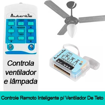 CONTROLE REMOTO PARA VENTILADOR DE TETO E LUZ