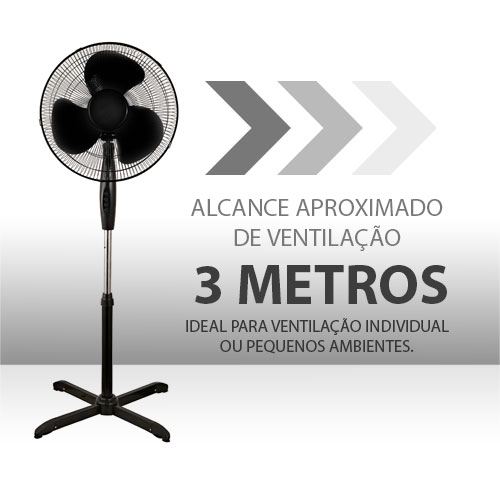VENTILADOR DE COLUNA 40 CM NEPTUNO